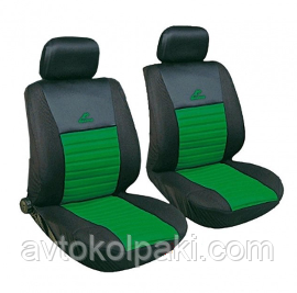 Авточехлы универсальные автомобильные  для салона передние Milex Tango зелёные