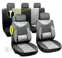 Авточехлы универсальные автомобильные  для салона полный Milex Phantom серые