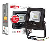 Светодиодный прожектор 10w 5000K Maxus 1-MAX-01-LFL-1050 Холодный