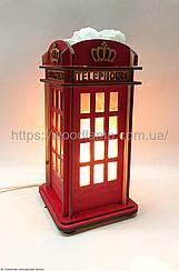Соляной светильник Деревянный Телефонная будка