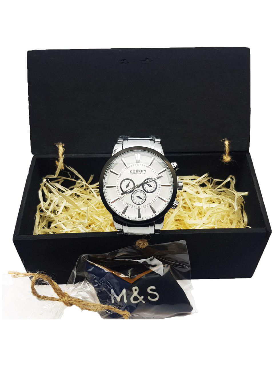 daef9bd204c9 ... Часы наручные мужские стильные кварцевые HuaDi, Коричневый цвет, Белый  циферблат, фото 4