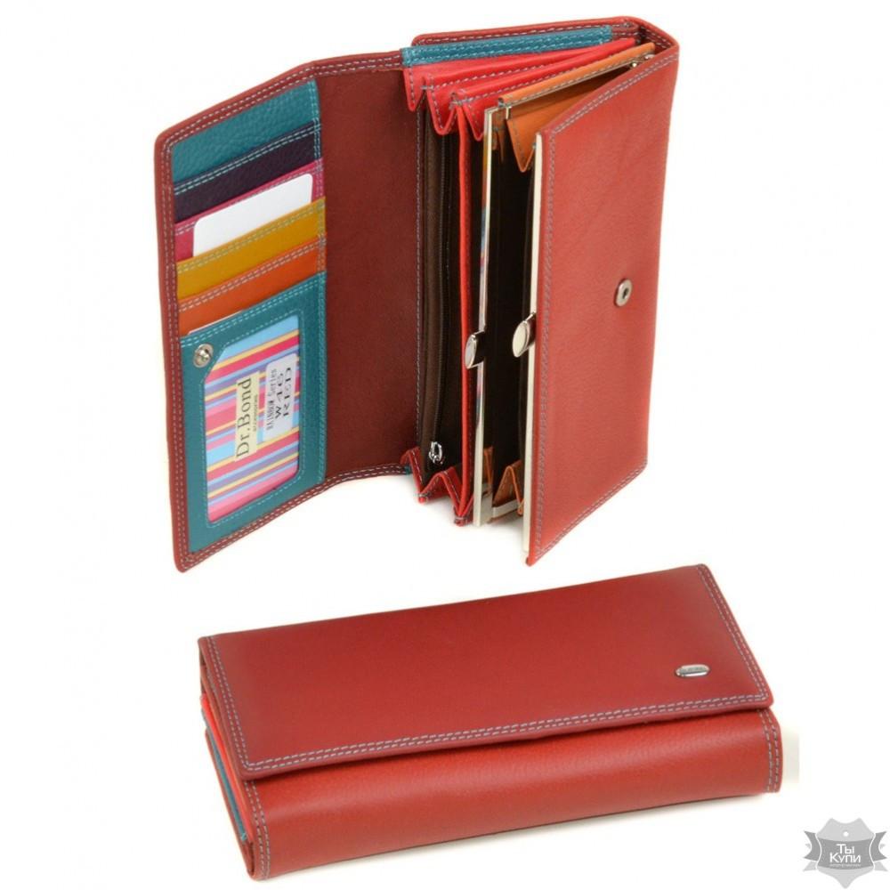 f53680be9811 Женский кожаный кошелек Rainbow dr.Bond W46 red - Arion-store -  кожгалантерея и