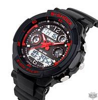 Мужские наручные спортивные часы Skmei S-Shock Red (1229)