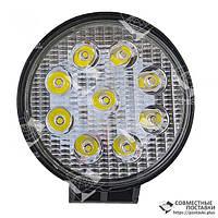 27W / 30 (9 X 3W / узкий луч, круглый корпус) 2200 LM LED Фара рабочая L0076S (JFD-1074) (ПОЛЬША), фото 1