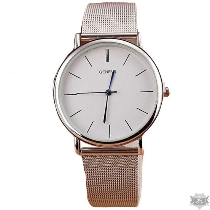 91d443de03e0 Женские часы Geneva Steel Silver (1366) - Arion-store - кожгалантерея и  аксессуары