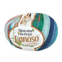Зимняя пряжа Lanoso Alpacana Fine Print 810 25% альпака меланжевая