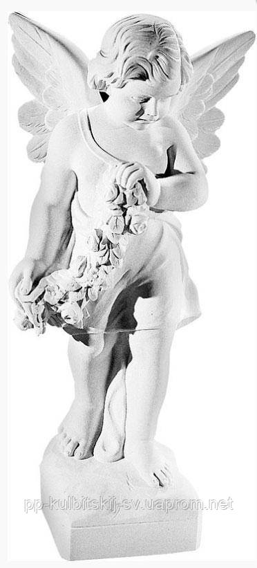 Скульптура Ангелочка пам'ятник гранітний К297