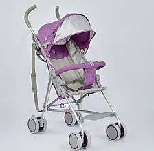 Коляска прогулочная Joy S108S с ремешком для переноски, фиолетовая