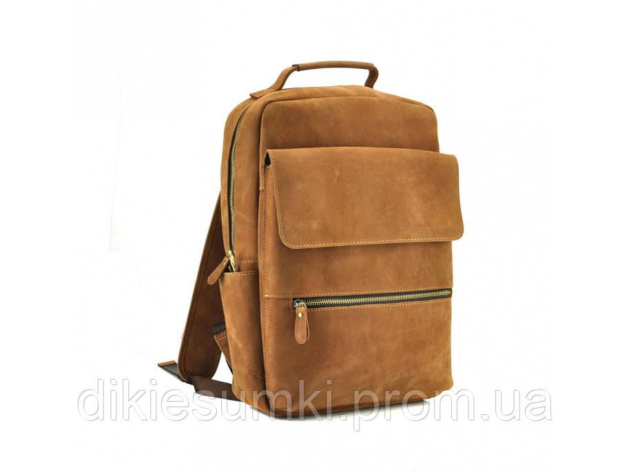 267857cfcc36 Рюкзак кожаный мужской TIDING BAG коричневый t0031 в Интернет ...