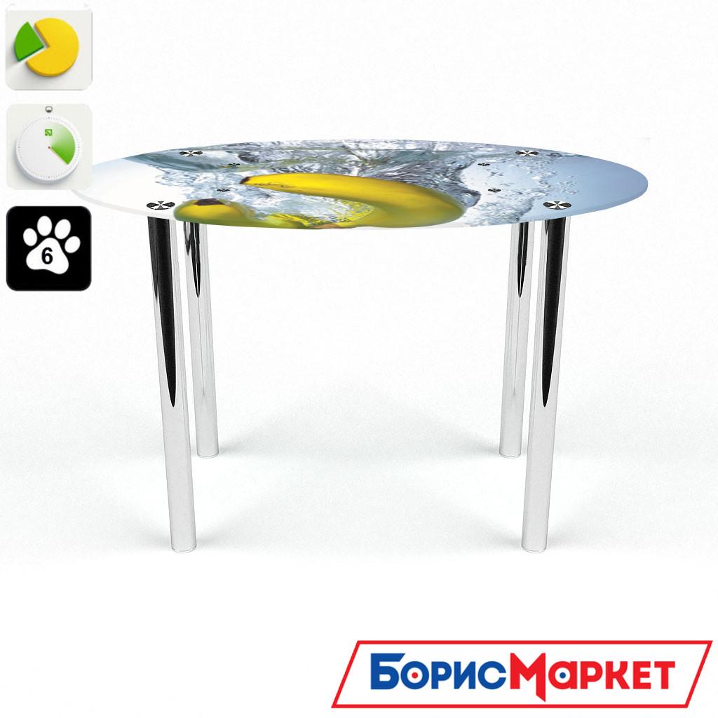 Обеденный стол стеклянный (фотопечать) Овальный Banana от БЦ-Стол