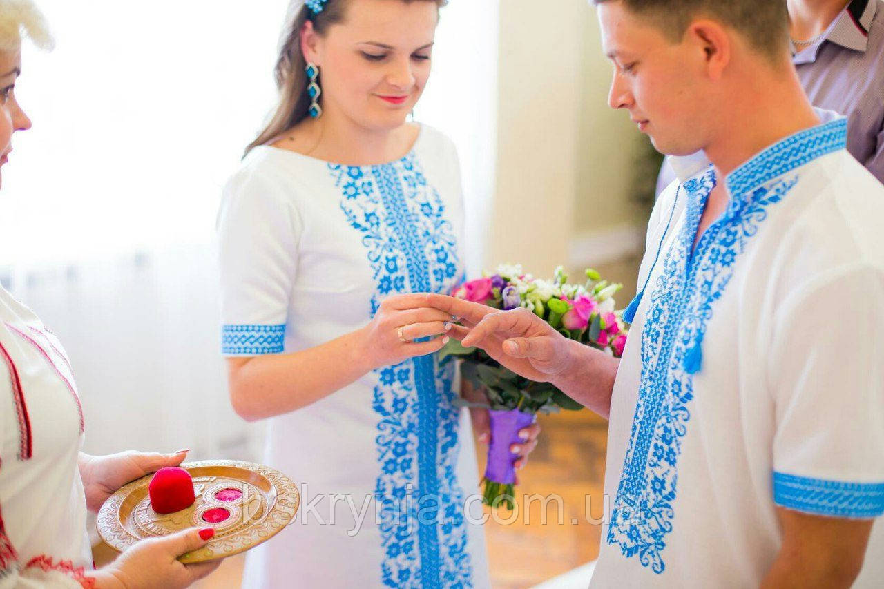 Парні вишиванки.Сорочка жіноча + сорочка чоловіча МВ-65п