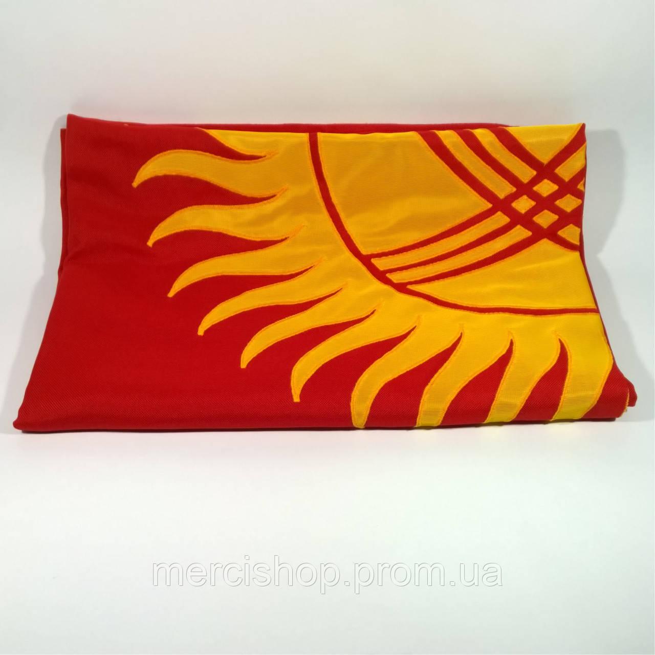 Флаг Киргизии (Аппликация) - (1м*1.5м)
