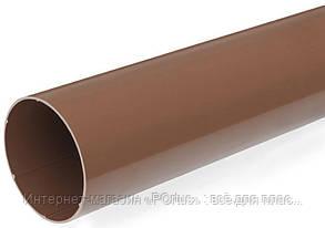 Труба водосточная без раструба 100х4000 коричневая