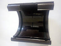 Муфта желоба 125 ПВХ (коричневый)