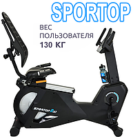 Профессиональный велотренажер Sportop R60,Электромагнитная,8,Тип Горизонтальный , 54, 12, BA100, Домашнее, 130, 11 - 25