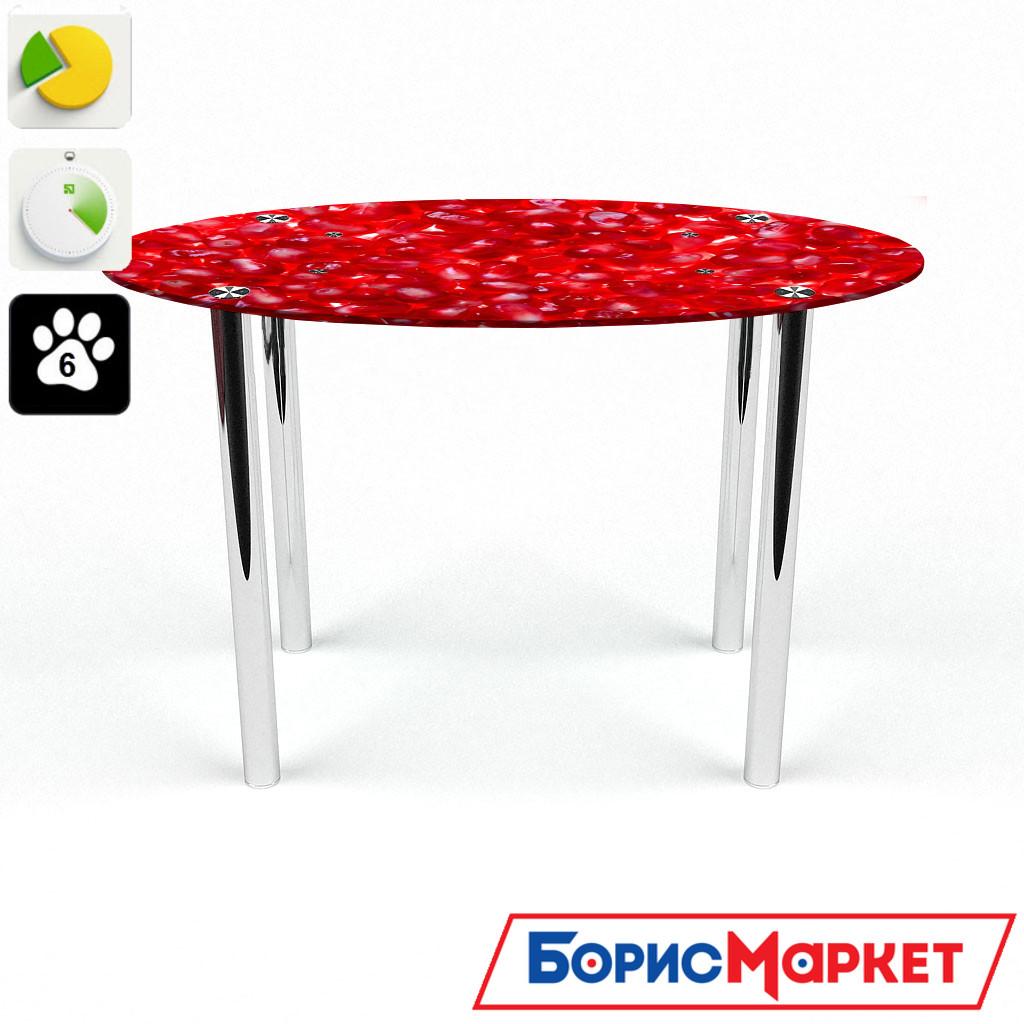 Обеденный стол стеклянный (фотопечать) Овальный Garnet от БЦ-Стол