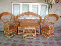 """Комплект плетенной мебели """"Капелька до низу №26"""""""