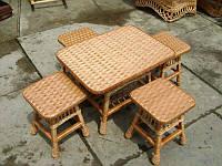 Комплект плетеной мебели  с табуретками №45