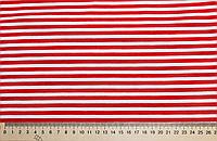 Ткань Трикотаж вискоза принт красно-белый
