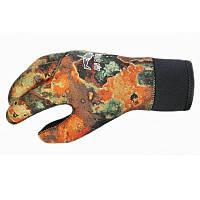 Перчатки неопрен BS Diver CAMOLEX открытая пора,камуфляж 5 мм., фото 1