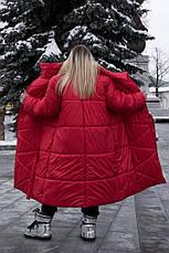 Длинное зимнее пальто больших размеров Зигзаг, фото 2