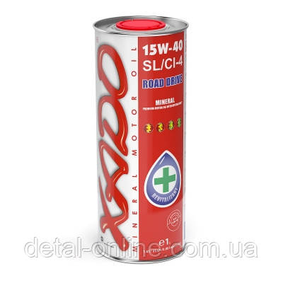 Минеральное моторное масло XADO Atomic OIL 15W-40  SL/CI-4 (1л), фото 2