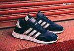 Мужские кроссовки Adidas Iniki Runner (синие) KS 405, фото 3