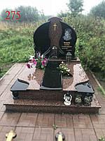 Памятник двойной из жадковського гранита под будущее захоронение