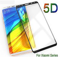 Защитное стекло 5D Полной оклейки 9H Xiaomi MI8 Lite, Захисне скло ксиоми