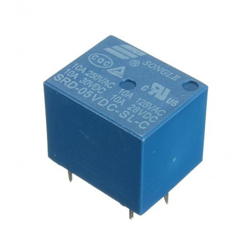Реле SRD-5VDC-SL-C 5DC 5DC/10A/250VAC
