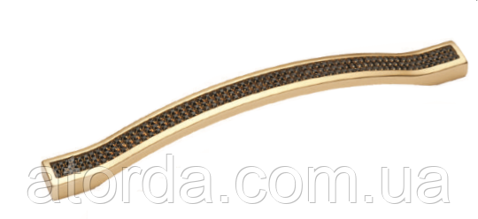 Ручка DG ODESSA  5348-04/01-011 128мм Матовое Золото черные камни