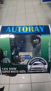 Автомобильная лампа H7 55W AUTORAY+110% (52720SL) Box