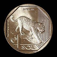 Монета Перу 1 соль 2018 г. Ягуар