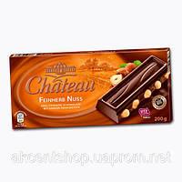 Шоколад черный  с цельным лесным орехом Feinherb Nuss Chateau Германия 200г