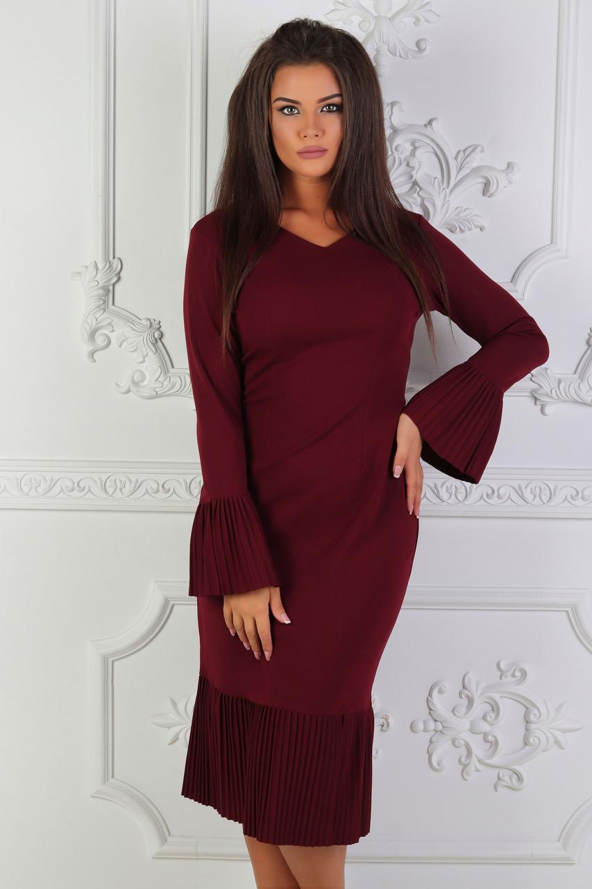 Платье Женское однотонное крепдайвинг