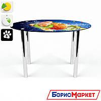 Обеденный стол стеклянный (фотопечать) Овальный Sweet Mix  от БЦ-Стол