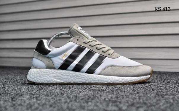 Чоловічі кросівки Adidas Iniki Runner (чорно/білі)