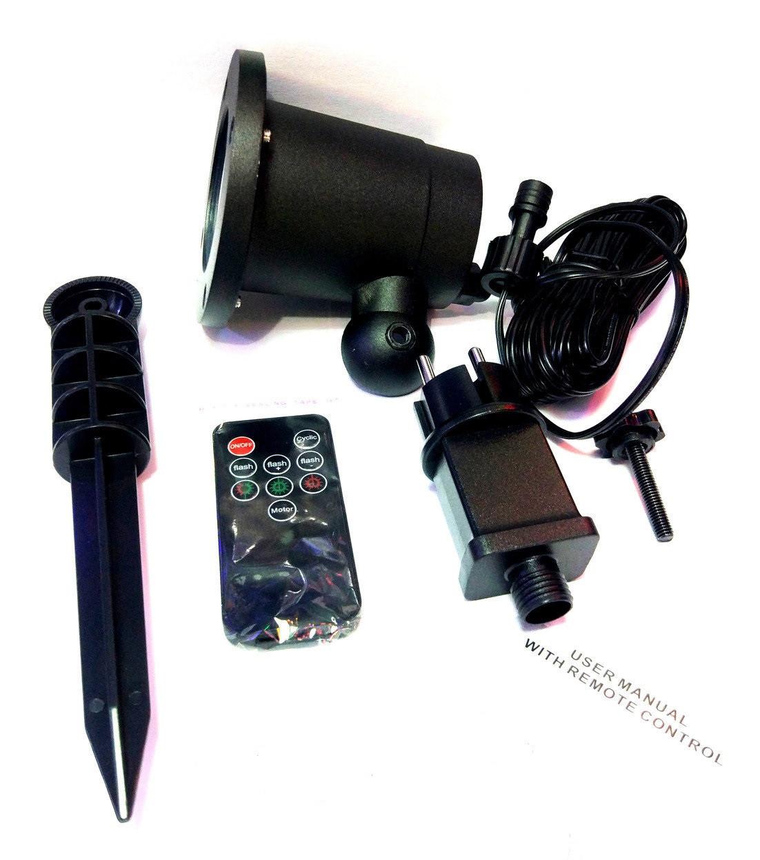 Лазерный проектор звездный дождь с картинками Laser Light железный