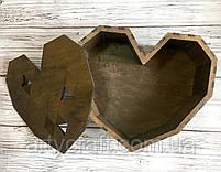"""Подарочная деревянная коробка """"Большое сердце"""", фото 2"""