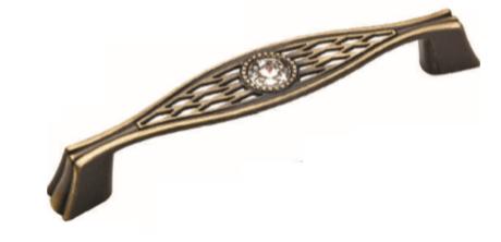 Ручка DG GAZEL 5438-08 96mm Бронза с камнями