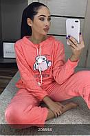Пижама женская коралловая махровая