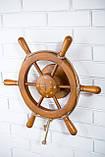 Штурвал на стену с компасом и поворотным механизмом 50 см, фото 2