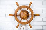 Штурвал на стену с компасом и поворотным механизмом 50 см, фото 4