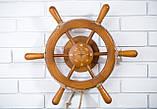 Штурвал на стену с компасом и поворотным механизмом 50 см, фото 3