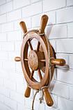 Штурвал на стену с компасом и поворотным механизмом 50 см, фото 5