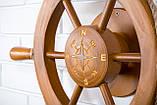 Штурвал на стену с компасом и поворотным механизмом 50 см, фото 7