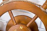 Штурвал на стену с компасом и поворотным механизмом 50 см, фото 6