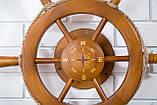 Штурвал на стену с компасом и поворотным механизмом 50 см, фото 8