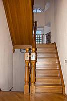 Деревянная лестница из массива дуба или ясеня ST1