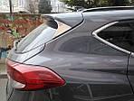 Hyundai Tucson TL 2016↗ гг. Накладка треугольник на крышку багажника (нерж)